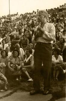 Свято Купала в Гідропарку, 5 липня 1986 року. На передньому плані Леопольд Ященко