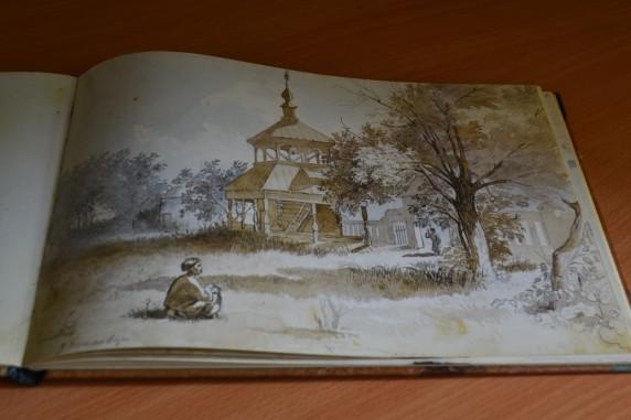 У Василівці (акварель, кінець липня-початок серпня 1845 р., Полтавщина)