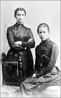 Ольга Кобилянська із Лесею Українкою, 1901