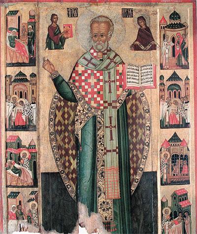 св. Миколай. Ікона з кін 15 ст. risu.org.ua
