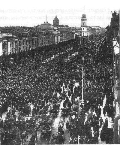 Похорон Мацієвича. Невський проспект, жовтень 1910 року. istpravda.com.ua